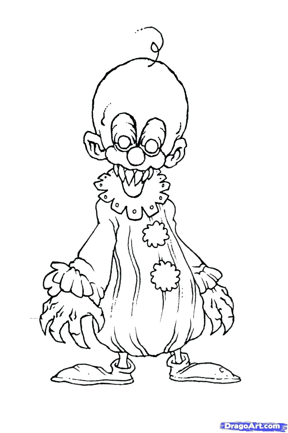 1000x1500 Coloring Scary Clown Coloring Pages