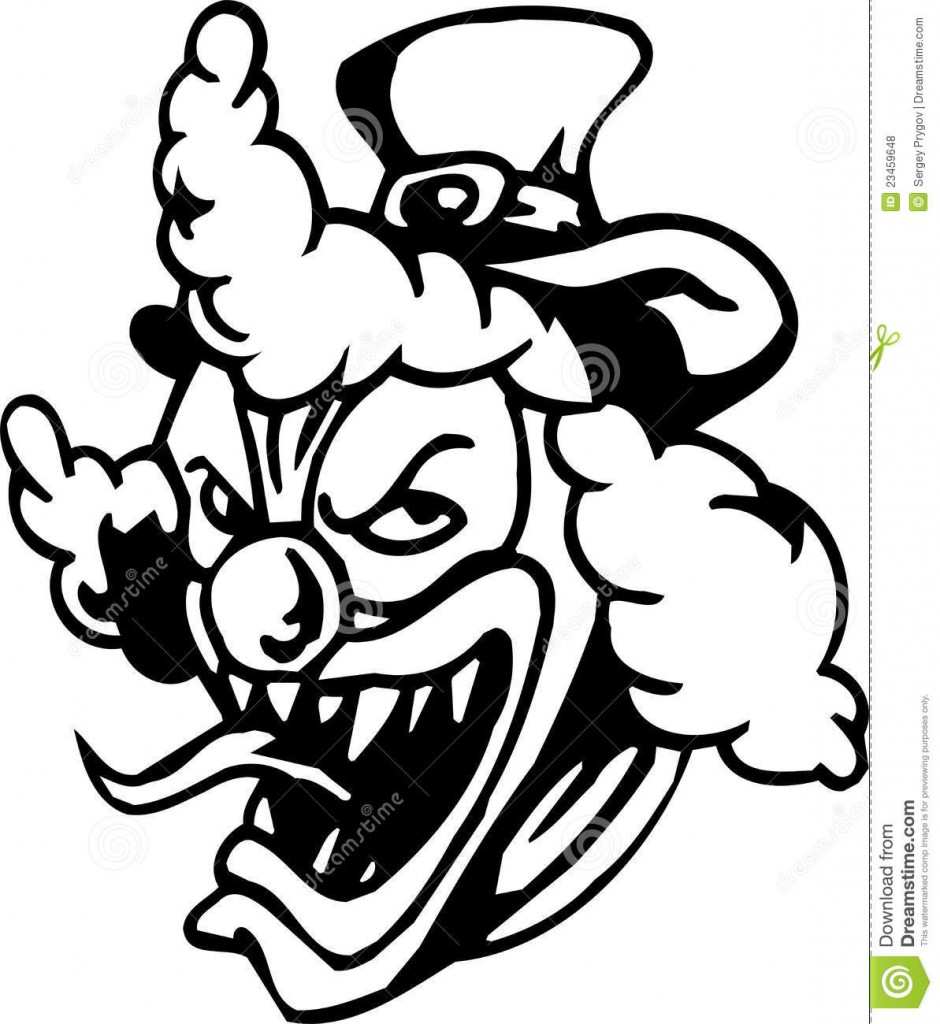 Scary Clown Face Drawing at GetDrawings | Free download
