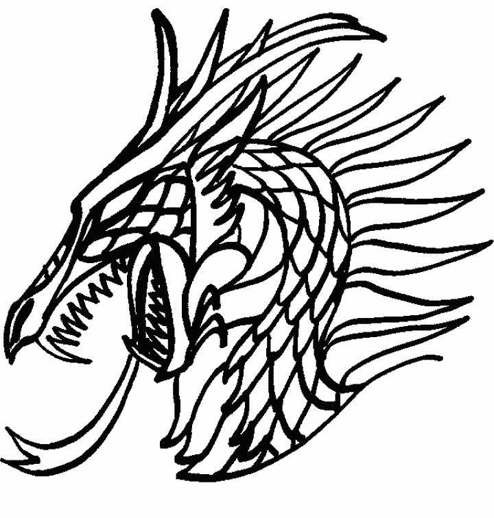 720x756 Enormous Scary Dragon Coloring Pages Dragons 2 Fantasy Book