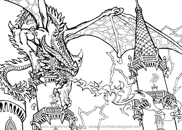 600x429 Beautiful Dragons Coloring Pages Image Scary Kids Back To Post
