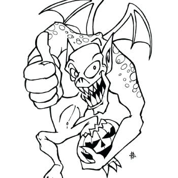 350x350 Scary Monster Coloring Pages Scary Monster Coloring Pages Scary