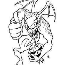 220x220 Scary Dragon Monster Coloring Pages