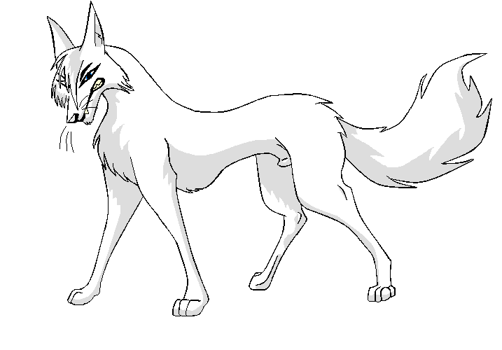 717x500 Wolf Lineart By Scary Dragon