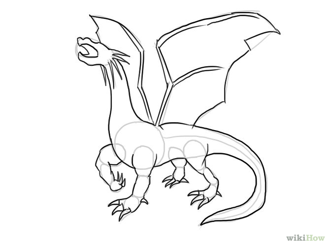 670x503 To Draw Dragons Step By Step 15