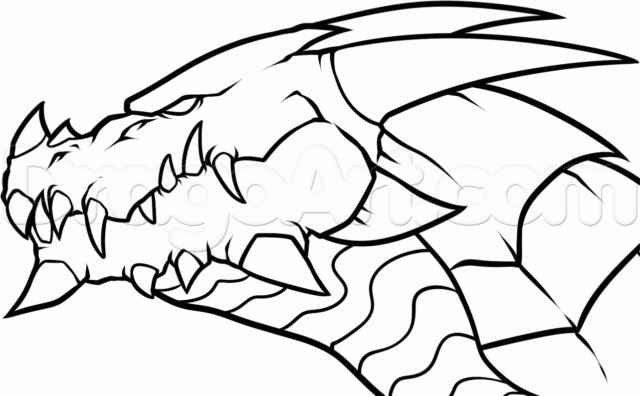 1283x794 Coloring Pages Scary Dragon New Easy Fire Breathing Dragon Head