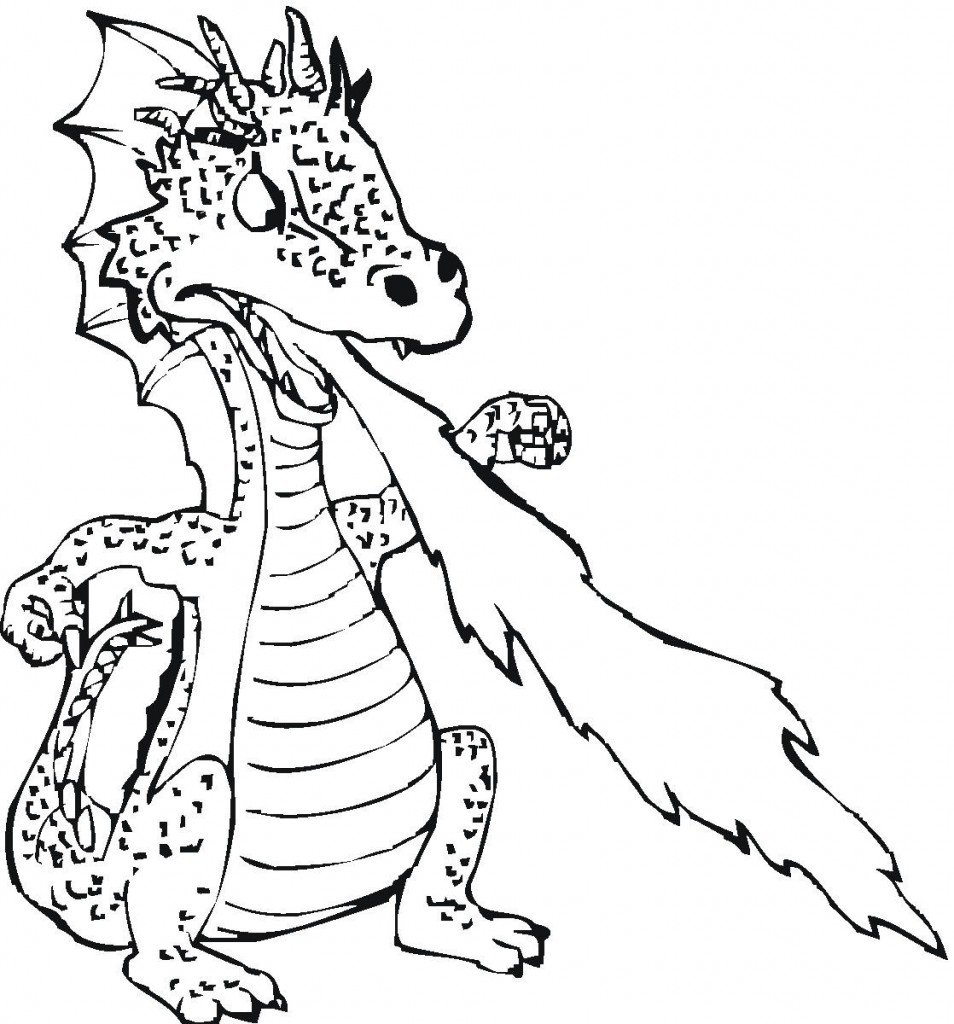 954x1024 Dragon Colouring Pages For Kids