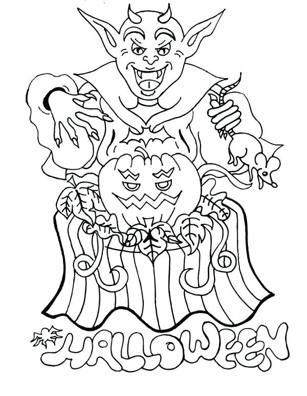 600x775 Complete Scary Coloring Pages New Wonderful Astounding Creepy Best