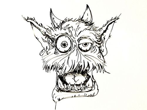 500x375 Scary Monster Drawing Whiteboard Drawings Comfy Monster Adam