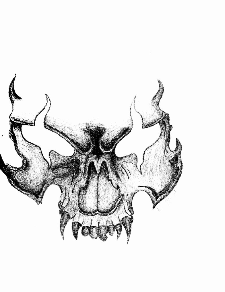 784x1018 Scary Skull By Imeanbusiness