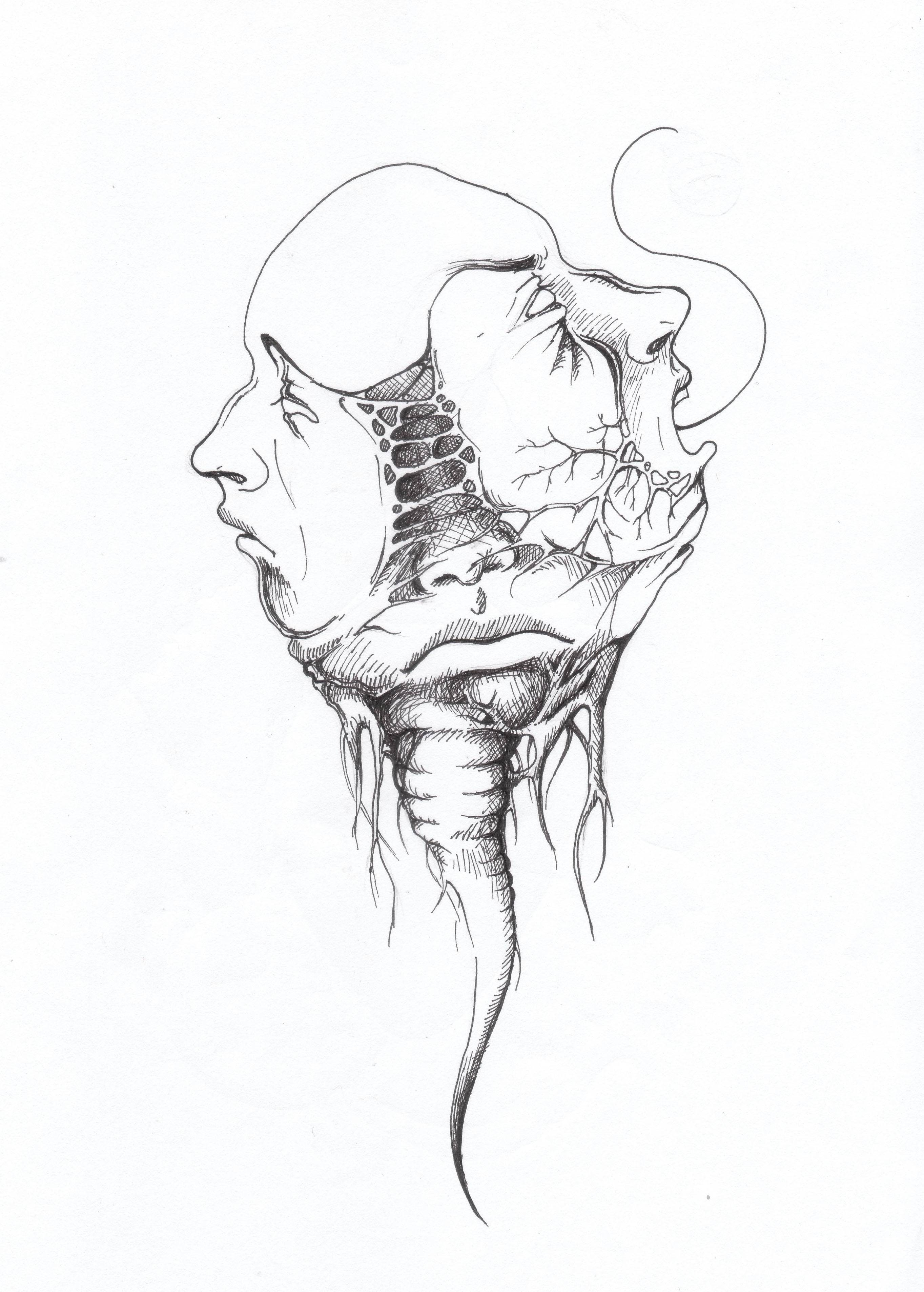 2727x3811 Sometimes I Draw Scary Doodles
