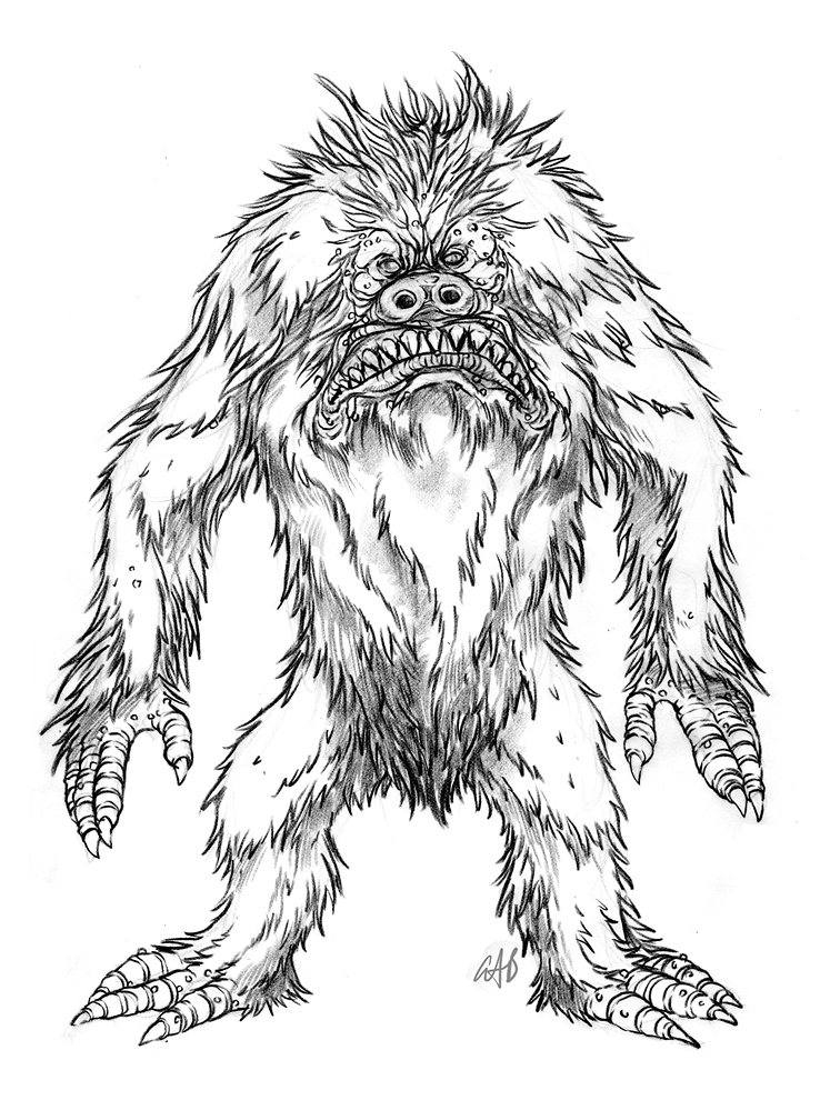 756x1008 The Doodles, Designs, And Art Of Christopher Burdett A Scary