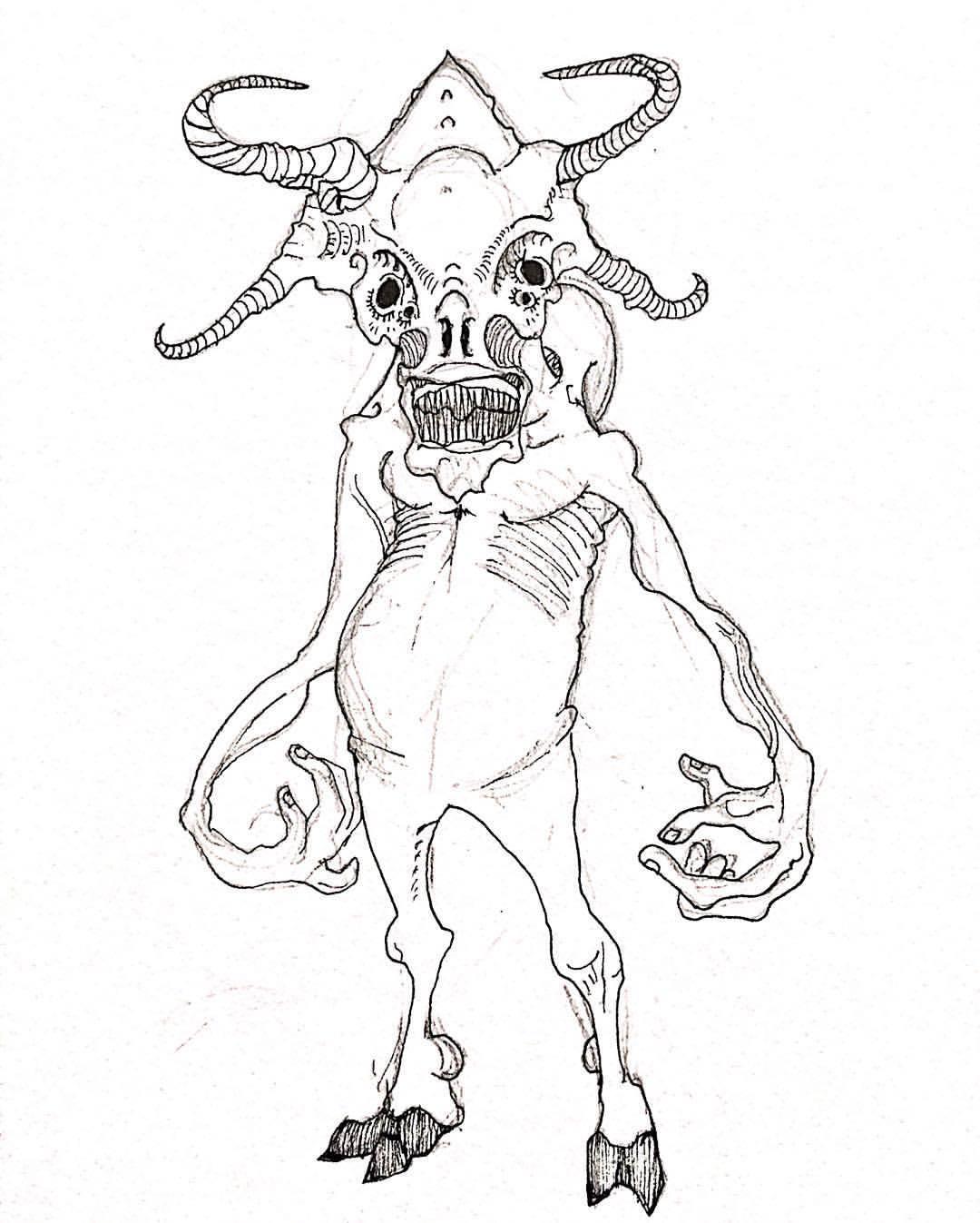 1080x1347 Vishnu Prasad Minotaur (Quick Monster Doodle)