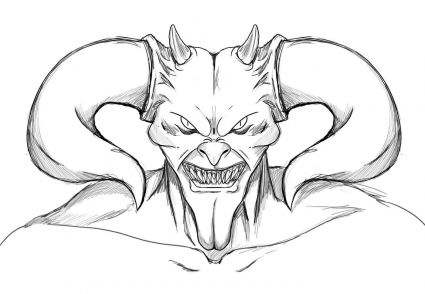 425x294 Demon Drawing Mensajes