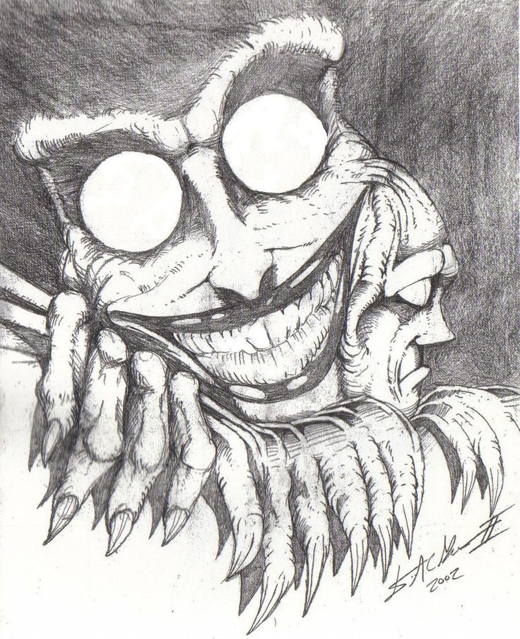 736x904 Scary Drawings