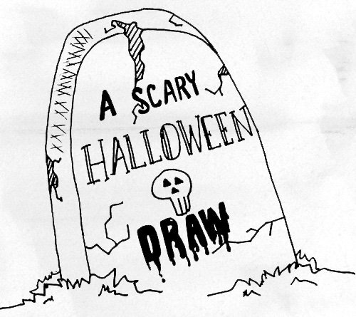 500x445 A Scary Halloween Draw Doodlers Anonymous