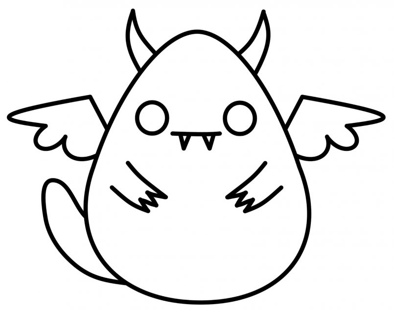 805x639 Drawing Easy Scary Monster Drawings Together With Cool Easy