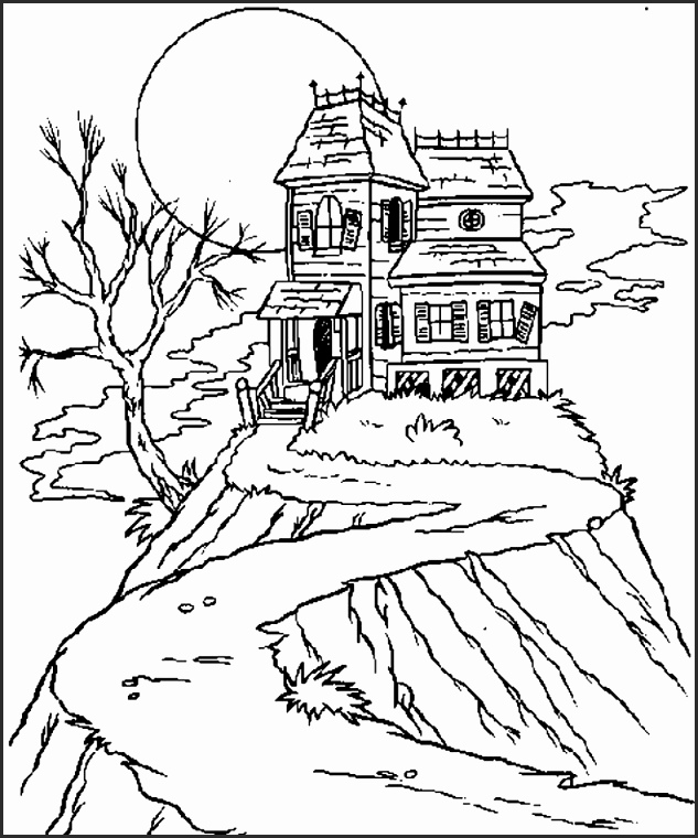 633x760 Drawings Of Haunted Houses Ishdf Unique How To Draw Haunted House