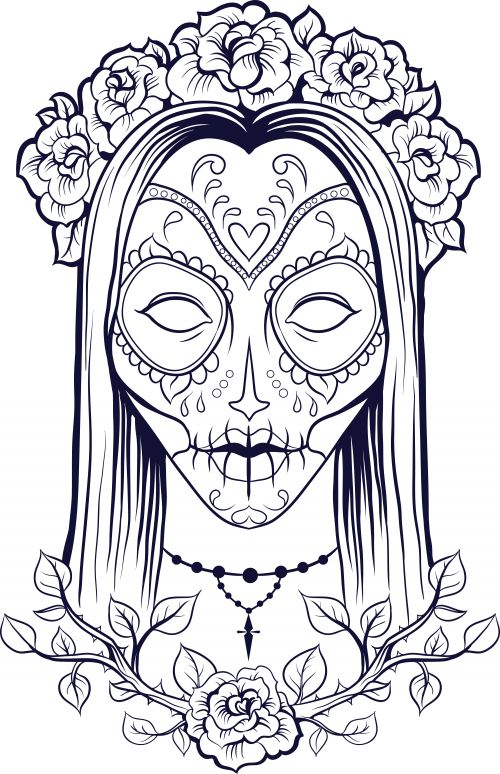 500x774 Beautiful But Creepy Coloring Pages For Girls To Tiny Draw