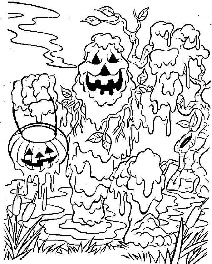 679x843 Halloween Coloring Pages Free Printable Scary Preschool For Cure