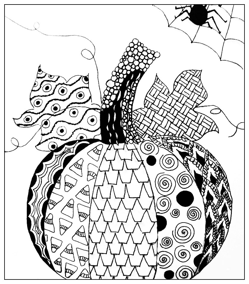 827x943 Halloween Simple Pumkin Drawing Halloween