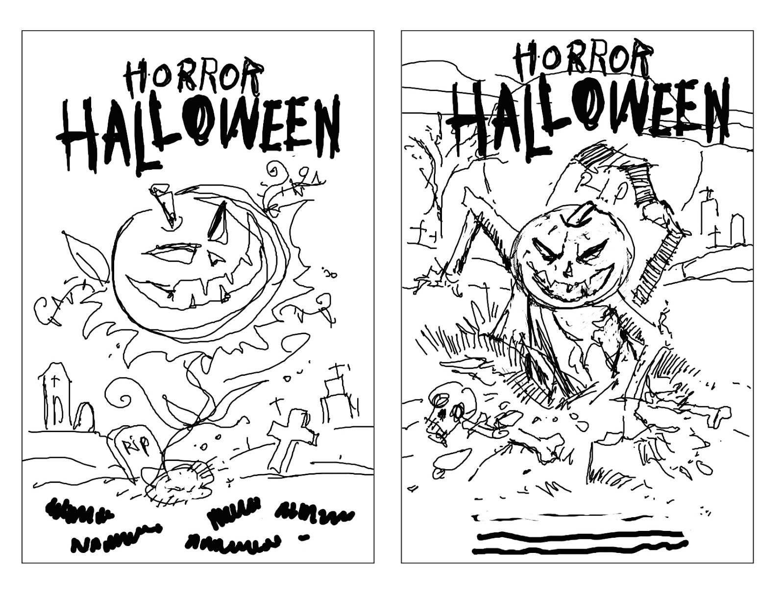 1600x1216 Halloween ~ Scary Drawing Ideas Easy Drawings Festival