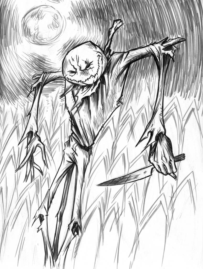 775x1025 Scary Drawings Scary Scarecrow By Seanwthornton Scary