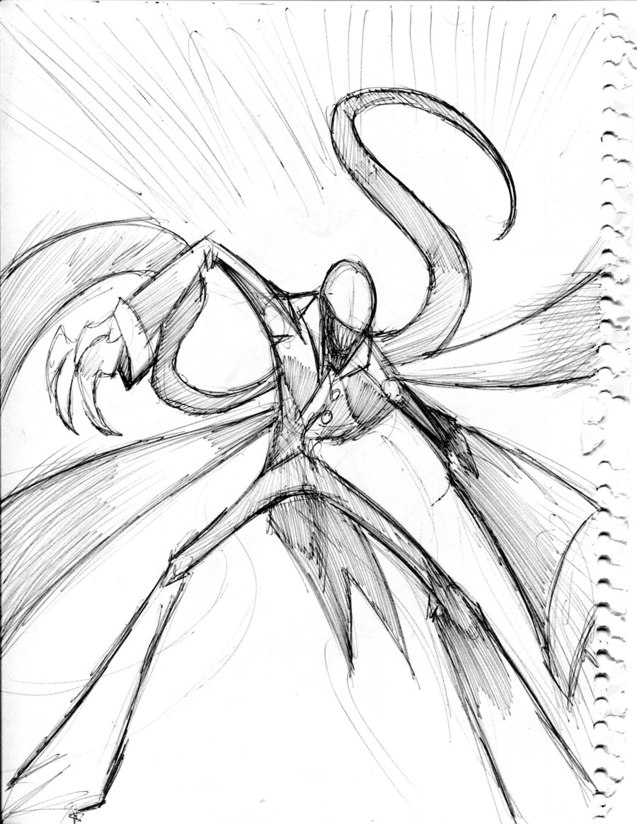 900x1165 Slenderman Attacking Action Pose By Winddragon24