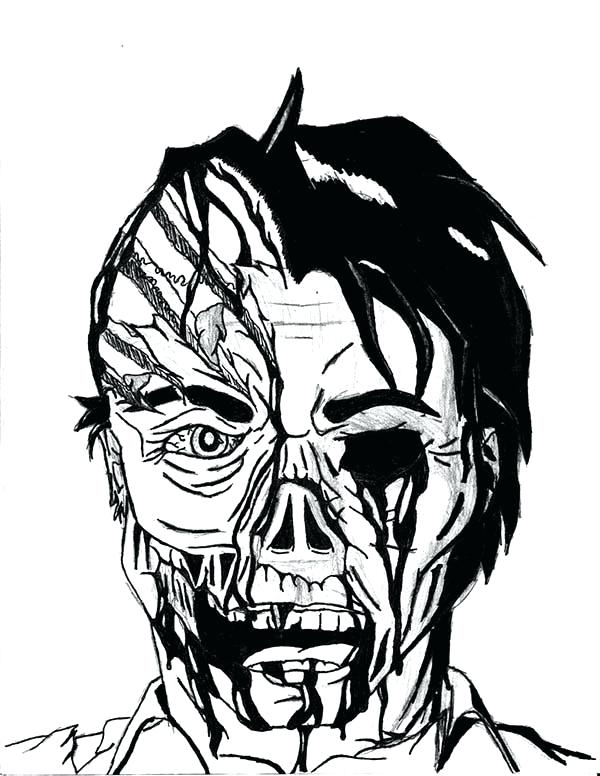 scary coloring pages - photo#8