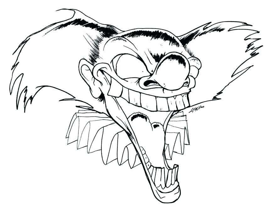863x667 Clown Faces To Color Happy Clown Faces Coloring Pages Scary Clown