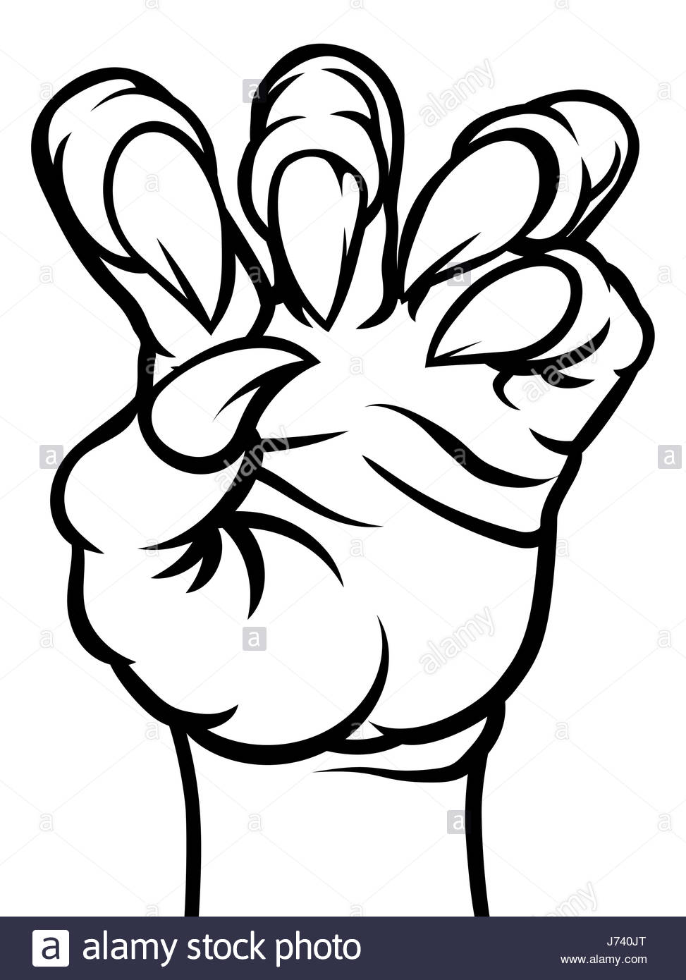 973x1390 A Scary Monster Talons Claw Hand In Black And White Stock Photo