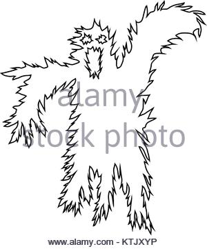 300x361 Abstract Vector Hand Drawn Scary Halloween Ghost Stock Vector Art