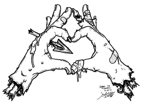 500x369 Drawn Hand Zombie