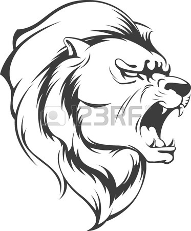 Scary Lion Drawing