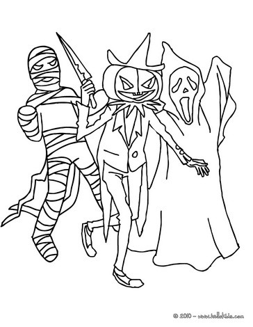 364x470 Halloween Monsters Coloring Pages