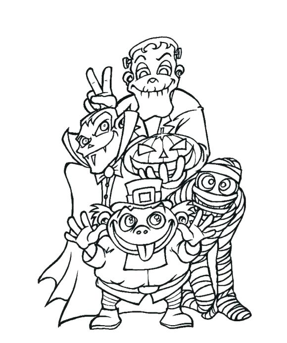 580x693 Halloween Monster Coloring Pages Download Monsters Unleashed