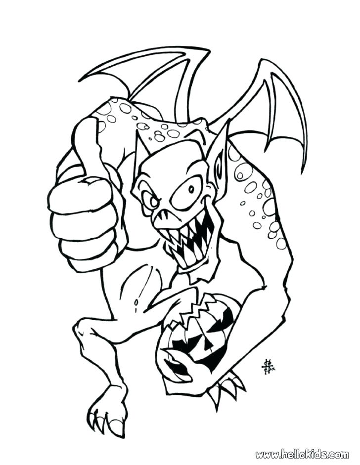 728x941 Scary Coloring Pages Group Of Scary Monsters Coloring Page
