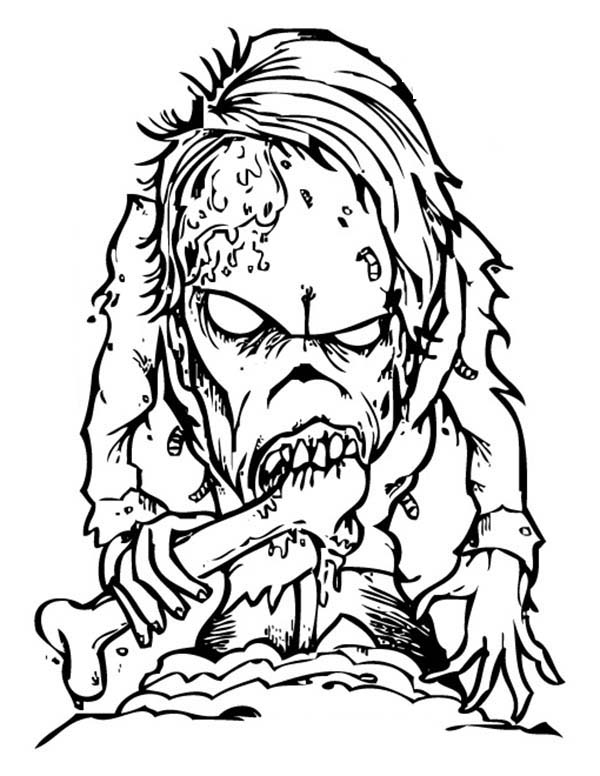 600x776 Scary Monster Coloring Page Free Download