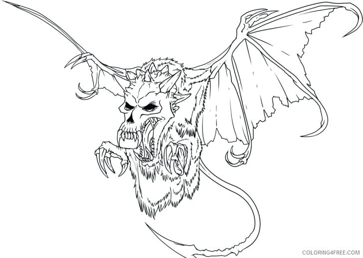 728x518 Scary Monster Coloring Pages Pictures Of Monsters For Kids Scary