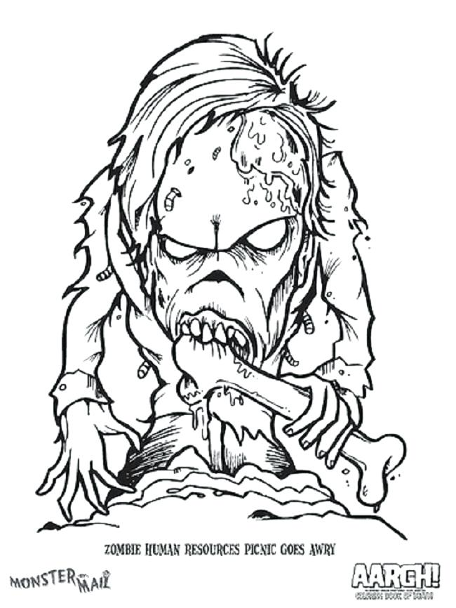 650x866 Scary Zombie Coloring Pages Scary Monster Coloring Pages Scary