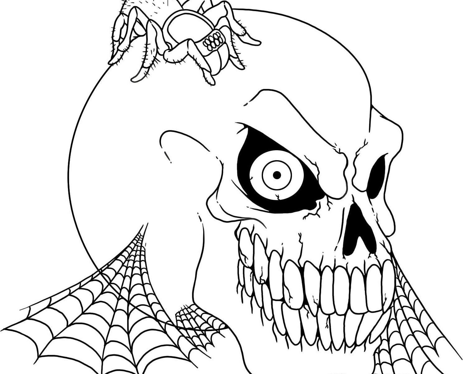 1486x1200 Spooky Monsters Coloring Pages Creepy Halloween Printable Adul