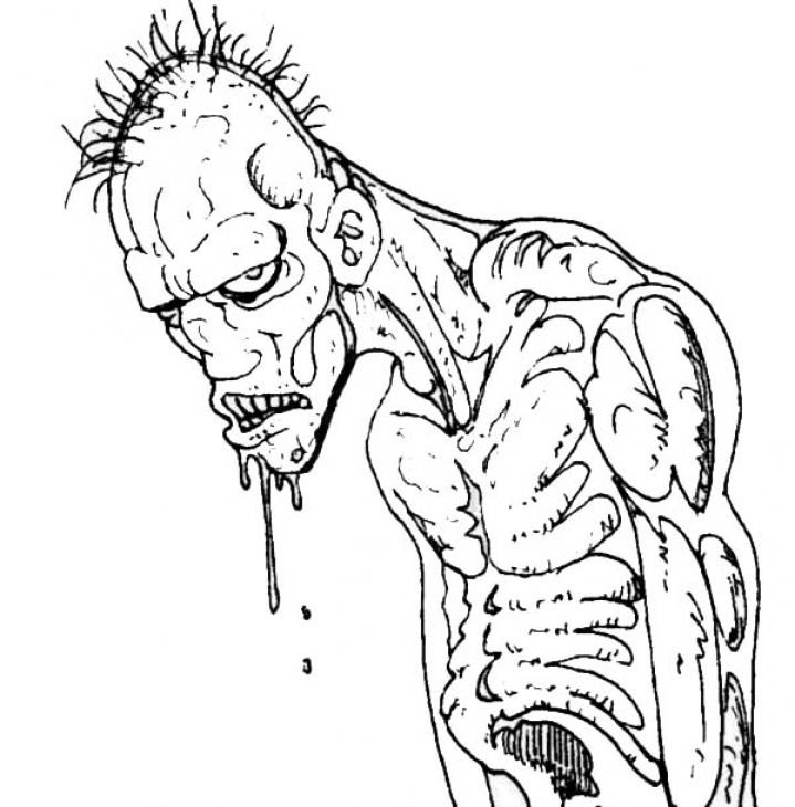 719x730 Scary Coloring Pages. Scary Coloring Page. Download Scary Coloring