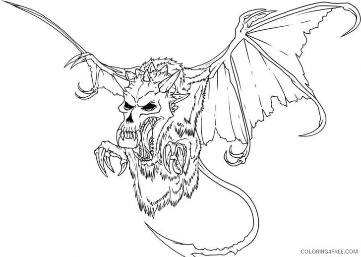 728x518 Scary Monster Coloring Pages Coloring4free