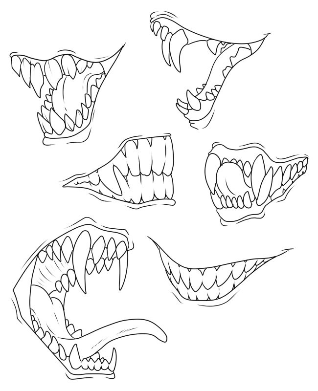 650x800 To Draw Sharp Teeth