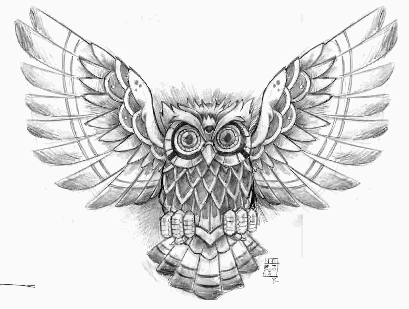 1600x1210 Owl Wings Tattoo Elaxsir