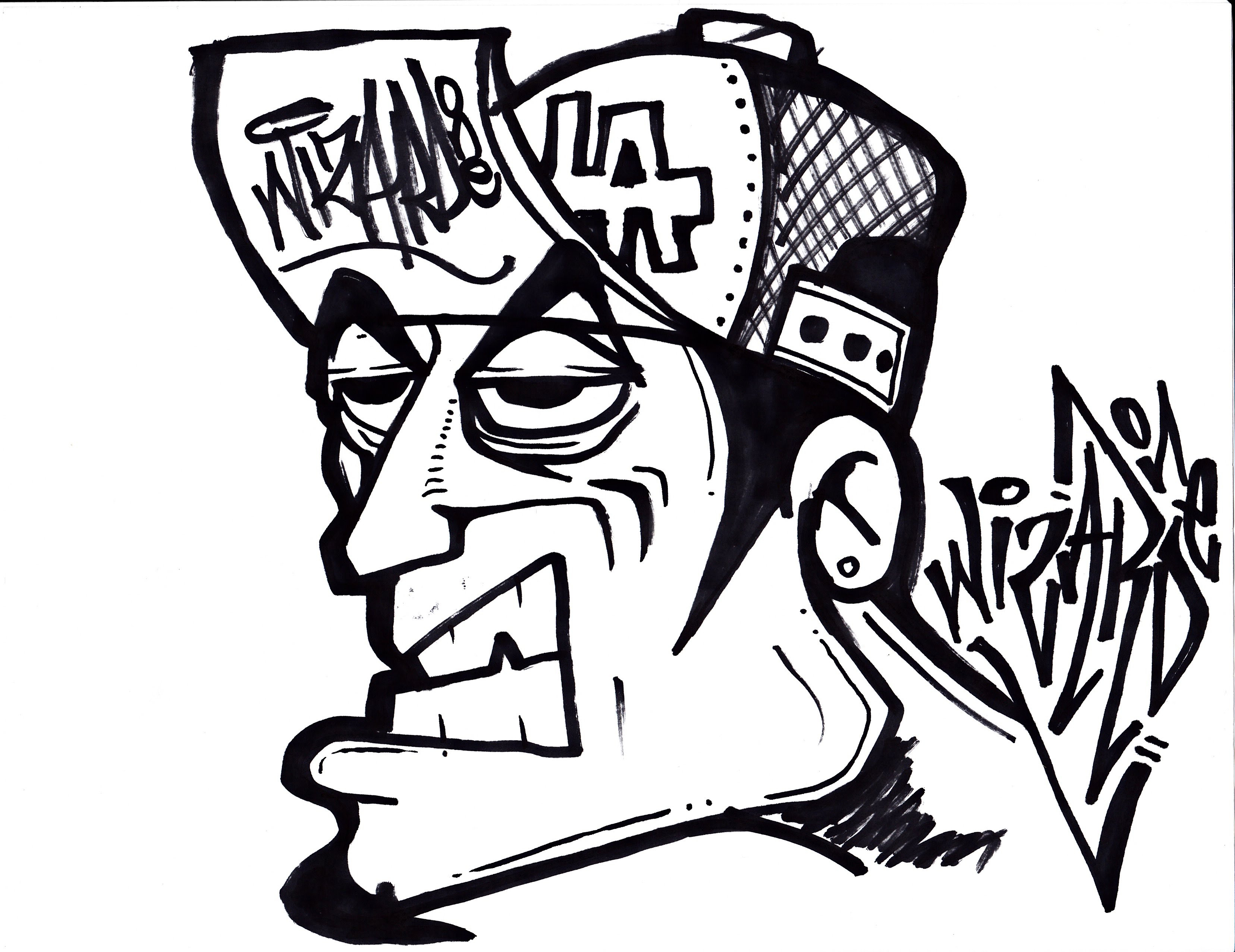 3312x2552 Scary Graffiti Drawings How To Draw A Oldschool Graffiti Character