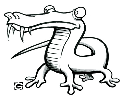 500x400 Drawings Of Lizards Gooie Duck Two Lizards, One Bunny, This