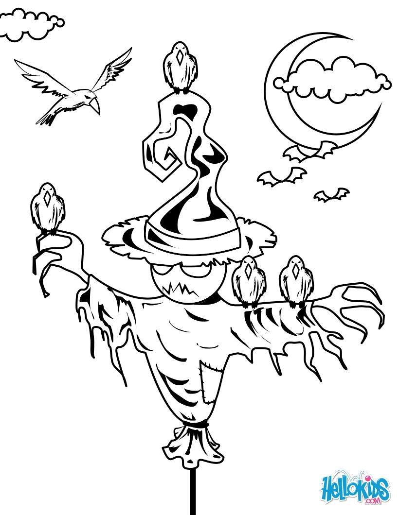 Scary Scarecrow Drawing at GetDrawings.com | Free for personal use ...