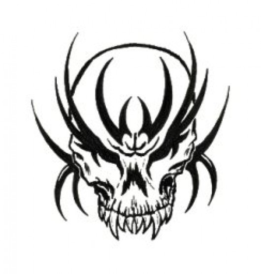 530x556 Scary Tribal Skull Counter Strike Source Sprays