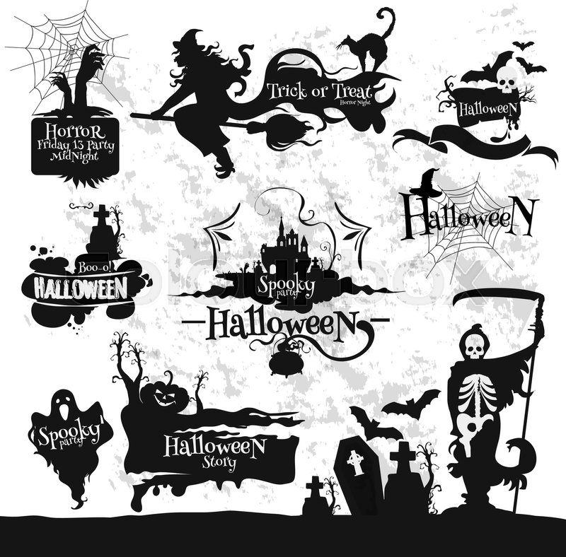 800x788 Decoration Emblems And Icons Set For Halloween Party, Friday 13