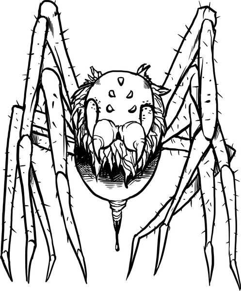 creepy spiders coloring pages - photo#21